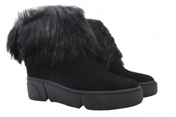 Ботинки Wit Mooni натуральная замша, цвет черный