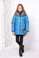 Модная зимняя куртка для девочки «Матильда», волна ТМ MANIFIK