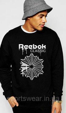 "Свитшот Черный  мужской Рибок REEBOK   ( Рибок ) Classic   Кофта """" В стиле Reebok """""