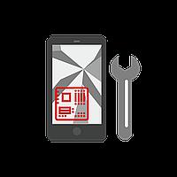 Замена дисплея Samsung I9500 Galaxy S4, красный, с сенсорным экраном, с передней панелью, оригинал (переклеено стекло)