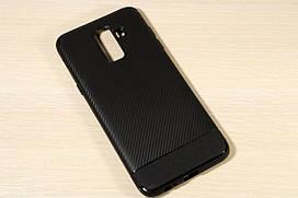 TPU чехол Carbon для Samsung J8 2018 (Черный)