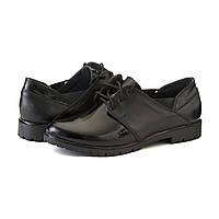 Черные женские туфли на шнуровке