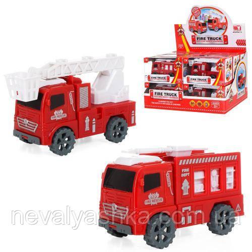 Пожарная машинка инерционная машина пластик, BY908-1C 007084