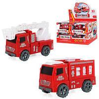 Пожарная машинка инерционная машина пластик, BY908-1C 007084, фото 1
