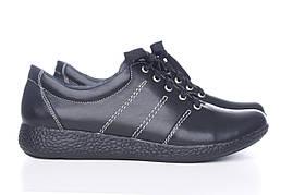 Черные кожаные кроссовки от производителя по доступной цене