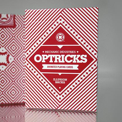 Карты игральные   Mechanic Optricks (Red) Deck by Mechanic Industries