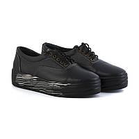 Кожаные черные слипоны на шнуровке недорого от производителя