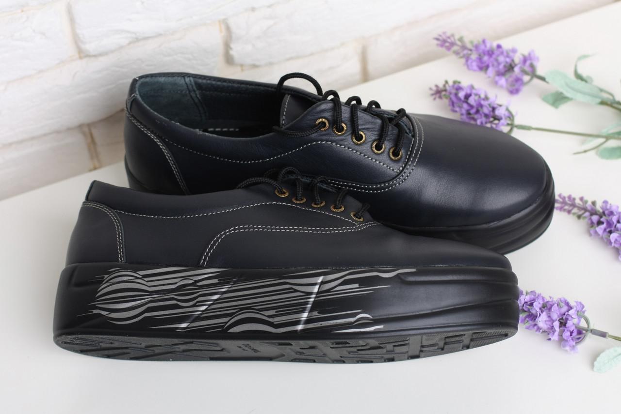 Кожаные черные слипоны на шнуровке недорого от производителя 36-40