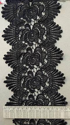 4663ff3d38a Кружево 14 м чёрное. Кружево Турция плотное макраме  продажа
