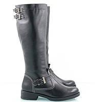Женские кожаные сапоги от производителя на маленьком каблуке