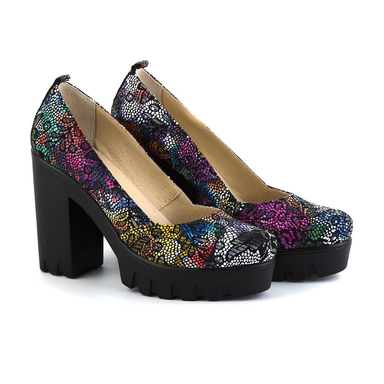 3d32be2fd Яркие кожаные туфли на высокой платформе и каблуке , выбрать из ...