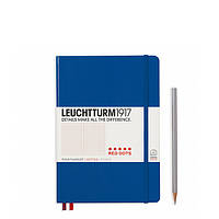 Блокнот Leuchtturm1917 Red Dots Средний(А5) Королевский синий В точку (14,5х21 см) (357698) (4004117532719), фото 1