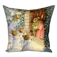 Подушка з принтом Різдвяна ніч (3P_NY213)
