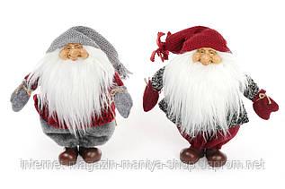 Мягкая новогодняя игрушка 822-117 Санта 34см 2 вида