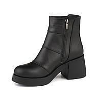 Женские осенние ботинки из натуральной кожи на мягкой подошве