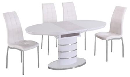 Раздвижной стол Utah DT113 white (белый) 140/180