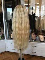 Перука натуральний жіночий блонд омбре з дитячих волосся, фото 1