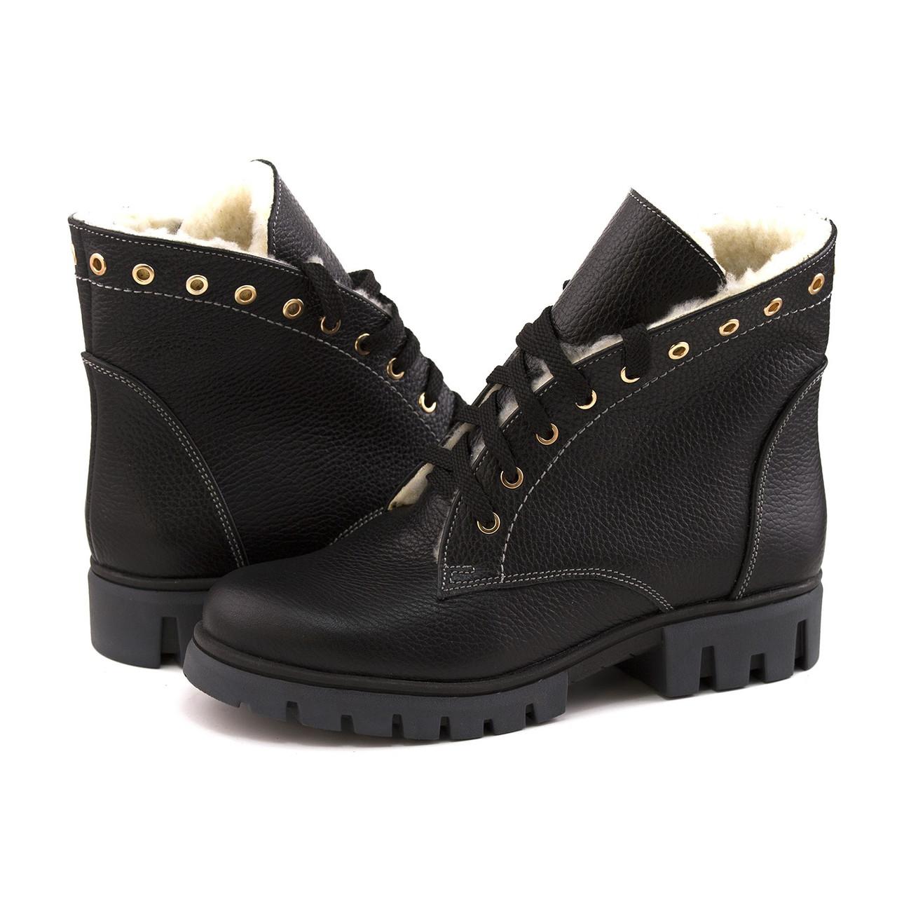 5f8a1d1f Теплые женские ботинки на шнуровке с утеплителем на овчине , выбрать ...