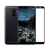 Защитное стекло Samsung A605 / A6 Plus / A6 Plus 2018 Full cover черный 0,26мм в упаковке