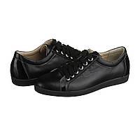 Кожаные женские туфли на шнуровке черные 36,37,40,41