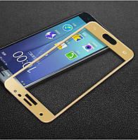 Защитное стекло Samsung J330 / J3 2017 Full cover золотой 0,26мм в упаковке