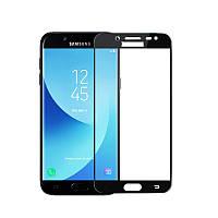 Защитное стекло Samsung J730 / J7 2017 Full cover черный 0,26мм в упаковке