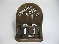 """Деревянный календарь с кубиками """"винтаж"""", большой"""