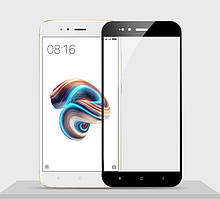 Защитное стекло Xiaomi Mi A1 / Mi5X Full cover черный 0,26мм в упаковке