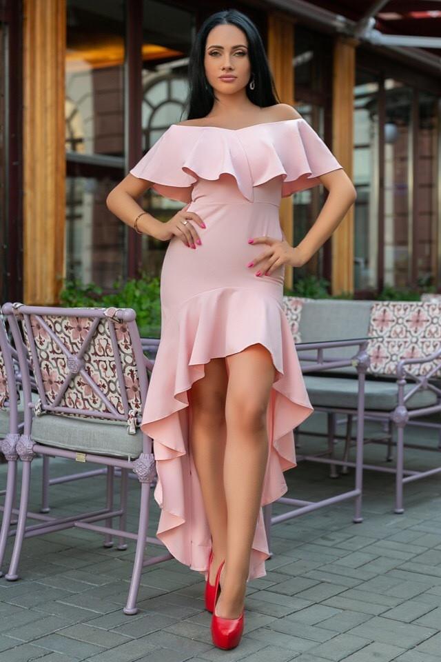 Женское Платье (141)686. (5 цвета) Ткань: креп. Размеры: 44, 46, 48, 50.