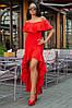 Женское Платье (141)686. (5 цвета) Ткань: креп. Размеры: 44, 46, 48, 50., фото 3