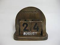 """Деревянный календарь с кубиками """"винтаж"""", маленький"""