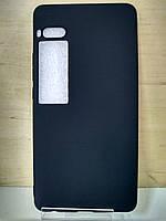 Силиконовый черный чехол Meizu Pro 7 Plus