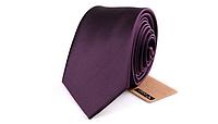 Галстук фиолетовый однотонный