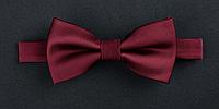 Галстук-бабочка бордовый