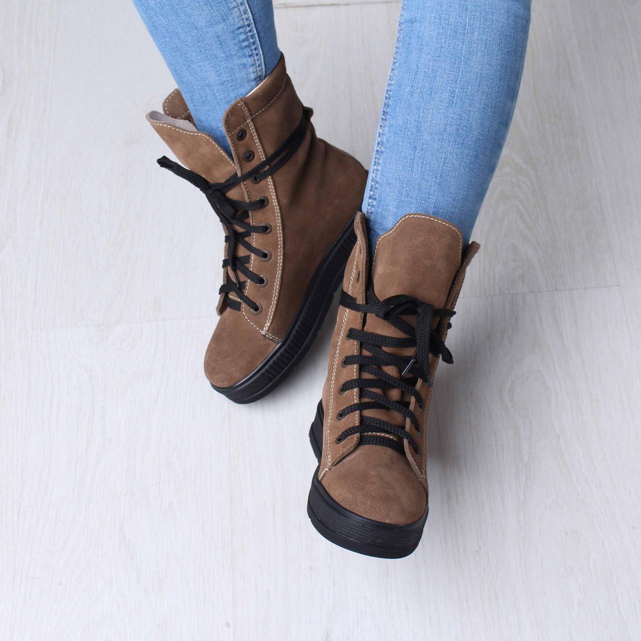 bfbd715a Утепленные женские высокие сапоги на шнуровке , выбрать из Ботинок ...