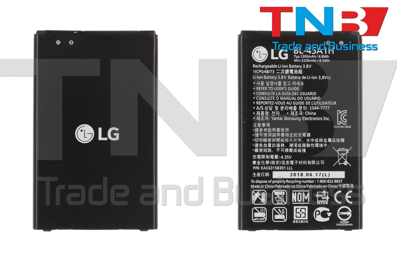 Батарея LG BL-45A1H LG K10 K410, K10 K420N, K10 K430DS, K10 K430DSF Li-ion 3.8V 2300mAh ОРИГІНАЛ