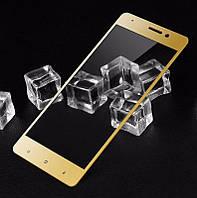 Защитное стекло Xiaomi Mi5S+ / Mi5S Plus Full cover золотой 2.5D 0.26mm 9H