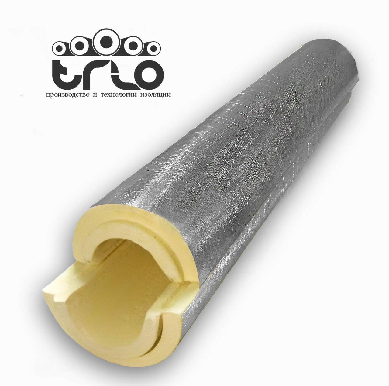 Утеплитель для труб в защитном покрытии из фольгопергамина (фольгоизола) -    Ø 140/36 мм