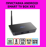 ПРИСТАВКА ANDROID SMART TV BOX X92