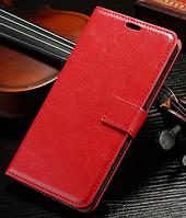 Кожаный чехол-книжка для Samsung Galaxy J1 2016 J120 красный
