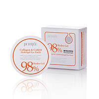 Petitfee Collagen & Co Q10 Hydrogel Eye Patch Гидрогелевые патчи для глаз c коллагеном и коэнзимом Q10 60 шт