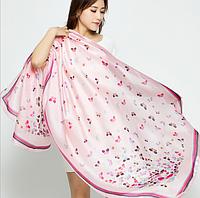 Разноцветный шарф с принтом Бабочки, Шарфы, Кольоровий шарф з принтом Метелики