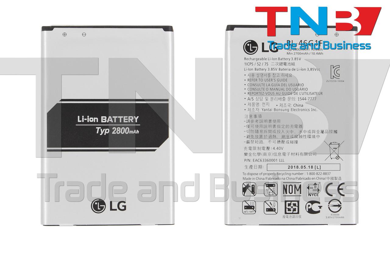 Батарея LG BL-46G1F LG K10 (2017) M250, K10 (2017) X400 Li-ion 3.85V 2800mAh ОРИГІНАЛ