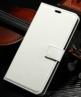 Кожаный чехол-книжка для Samsung Galaxy J1 2016 J120 белый