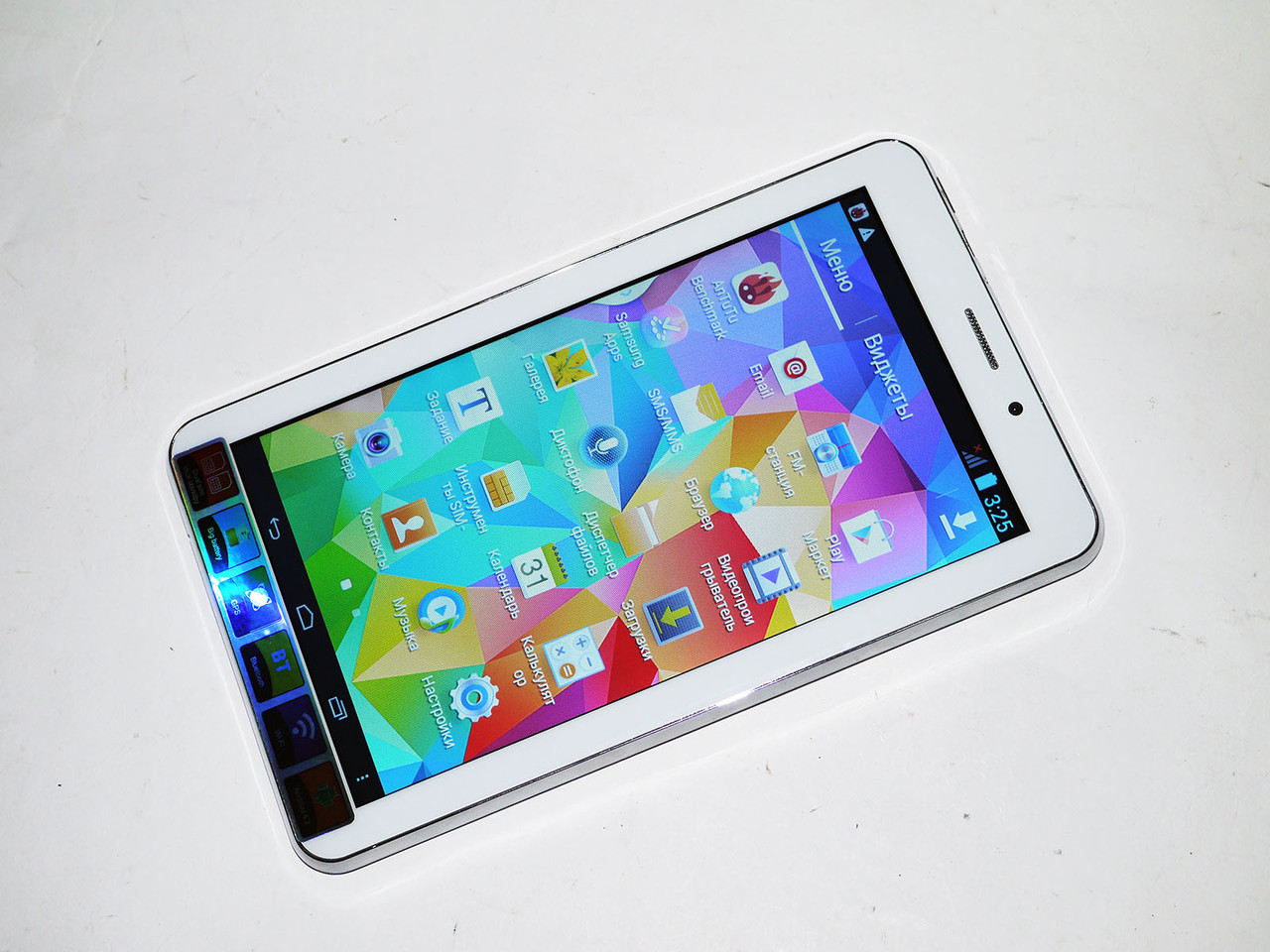 7'' Планшет Samsung M16 Белый 2Sim +2Ядра+BT+GPS +ЧЕХОЛ