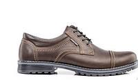 Мужские кожаные туфли City USA brown, фото 1