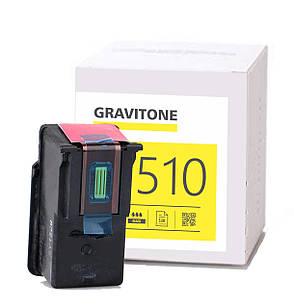 Картридж Canon PG-510 Чёрный совместимый, аналог 2970B001 / 2970B007, увеличенный ресурс (12 мл) Gravitone