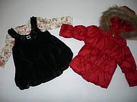 Комплект для девочек, куртка, боди, сарафан  Артикул 734, фото 1