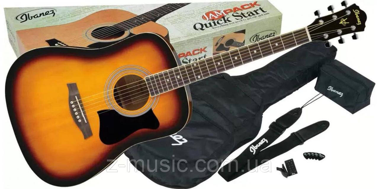 Гитара акустическая Ibanez V50NJP VS (Чехол+Тюнер+Ремень+Медиатор + Ключ)