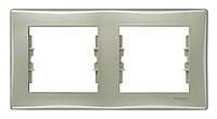 Рамка двухместная горизонтальная Титан Schneider Sedna (sdn5800368), фото 1